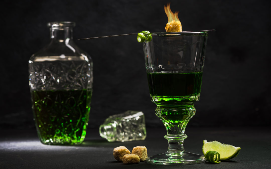 Absinthe Decanter and Glass